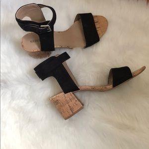 Merona canvas & cork block heels